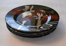 """Set of 4 Fitz & Floyd """"Iris d'Orient"""" Salad Plates Fine Porcelain  7 1/2"""" #440"""