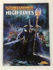 Warhammer  HIGH ELVES Supplement Games Workshop