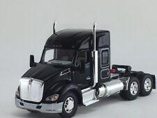 1/64 DCP BLACK KENWORTH T680 W/ MID-ROOF SLEEPER