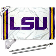 Louisiana State LSU Tigers Stripes Flag Pole and Bracket Gift Package