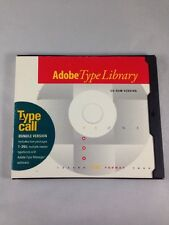 Adobe Type on Call for Macintosh Bundle Version 1-265 Vintage CD-Rom w/ Serial