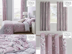 Catherine Lansfield Canterbury Floral Heather Duvet Quilt Cover Set/ Accessories