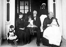 1885 Home of Jefferson Davis with Jefferson Davis and Family-Beauvoir, MS
