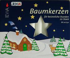 Baumkerzen BK 20/250 rot weiß '13x105mm' Weihnachtsbaumkerzen Kerzen