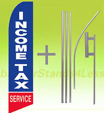 Feather Flutter Swooper Tall Banner Sign Flag 15' Kit- Income Tax Service bb