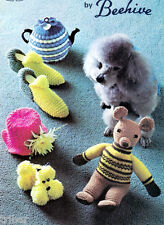 Knitting Crochet Patterns Tea Cozies Slippers Poodle Covers Dog Sweaters Toys