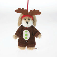 "Boyds Bears 5""  Dog Bear Reindeer Goodfriends Lil' Max Plush Ornament ~ 4034495"