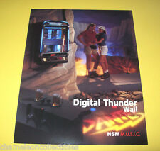 DIGITAL THUNDER WALL By NSM 1995 ORIGINAL NOS JUKEBOX PHONOGRAPH FLYER BROCHURE