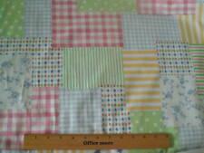 Fabric-Felicity Crayon Geometric Squares, Pastel - Cute