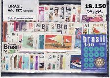 BRASIL 1973 AÑO COMPLETO. Solo Sellos Conmemorativos