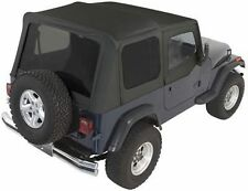 Rampage Complete Soft Top With Frame Amp Tint For 87 95 Jeep Wrangler Yj 68215 Black Fits 1994 Jeep Wrangler