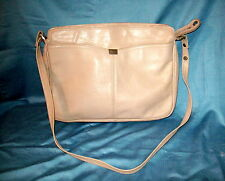 Vintage Antonia Designs Taupe Genuine Leather Handbag , 1970's