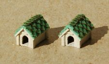 Dog House Kit 2 pk Z Scale Model Train Detail Precision Laser Cut Wood GCLaser