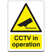 Small CCTV security camera IN OPERATION vinyl PVC warning sticker, window decal