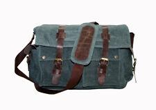 Men's Vintage Canvas Messenger Shoulder Satchel Laptop Crossbody Satchel School