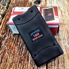 MONSTER Black 18 Million Volt Stun Gun Rechargeable w/LED light & HOLSTER new