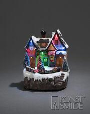 decorazione di Natale 21.5cms LED MUSICALE ANIMATO neve paesaggio con mobile