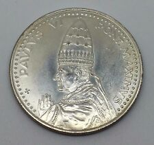 1975 ANNO SANTO ROMA POPE PAUL VI SILVER PLATED CHRISTIAN MEDAL PONT. MAXIMUS