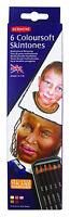 Derwent Coloursoft Skintones 6 Tin - Skin Tone & Portrait Colour Pencil Set