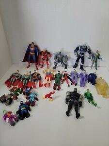Mixed Lot DC Figures Kenner Toy Biz Superman Joker Two Face Harlequin Arrow