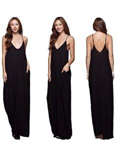 Love Stitch Black Cocoon Maxi Dress