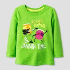 Toddler Boys' T-Shirt - Cat & Jack Peanut Butter & Jammin Time Green 12M