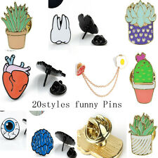 Fun Cute Pin Kawaii Brooch Collar Corsage Enamel Badge Lovely Costume Jewellery