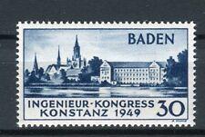 Baden  46 I PF I Konstanz mit Plattenfehler postfrisch (23486)