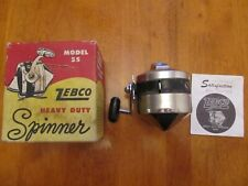 VINTAGE ZEBCO FISHING REEL - MODEL SPINNER #55 - WITH ORIGINAL BOX