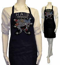 Bling Apron Hair Stylist Dresser Rhinestones Salon Flower & Butterfly