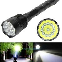 30000 Lumens 5 Mode CREE XML T6 18650 Super Bright Aluminum LED Flashlight Torch