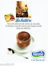 PUBLICITE ADVERTISING 016  1996  Nestlé  La laitière  pot créme au chocolat