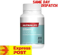NUTRA LIFE BILBERRY 10000 PLUS LUTEIN COMPLEX 60 TABS ANTHOCYANOSIDES EYEBRIGHT