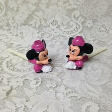 Rare Pair of Disney, Minnie the Mouse, Figural Bubble Maker, 5in L x 2.5in