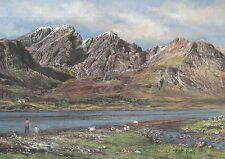Blaven & Loch Slapin, Isle of Skye Scotland, Sheep - United Kingdom Art Postcard