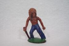 Ancienne figurine CHEF INDIEN QUIRALU PLASTIQUE 6cm American Native