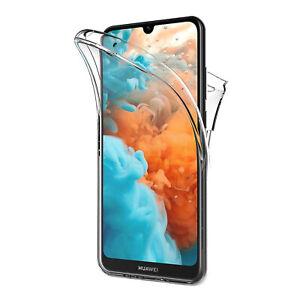 Cover Per Huawei Y5 Y6 Y7 2019 Fronte Retro 360 Custodia Trasparente Silicone