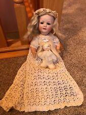 "13"" Fantastic Old Antique German Bisque Head Bahr Proschild Baby Infant Doll Tlc"