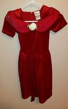 Rose Cottage Red Velvet Girls Dress Size 6 Christmas Party Special Fancy