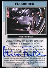 Babylon 5 Ccg Mira Furlan Severed Dreams Flashback Tc Autographed