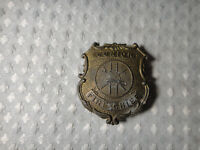 Vintage Metal Tootsie Toy Junior Fire Chief Badge Made In USA