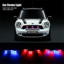 Car 18 LED Red & Blue Strobe Emergency Flashing Police Warning Grill Light USPS