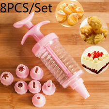 Durable Cookies Press Making Mold with 8 Cake Nozzles Non-toxic Tool Set Candy