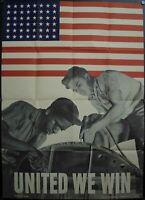 1942 United We Win Alexander Liberman Vintage Original World War II Poster
