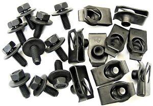 Toyota Body Bolts & U-nut Clips- M6-1.0 x 16mm Long- 10mm Hex- 20 pcs- #379