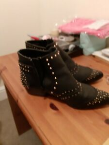 Red herring Ladies black  ankle boots size 7