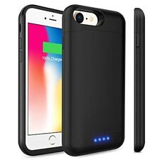 iPhone 8/7 Battery Case 6000mAh Charging Cover Protective Case 5.5 inch (Black)