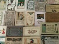 Lot of 25~ Early Arts & Crafts Poems Greetings Collectible 1900's Postcards-b444