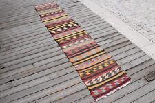 Turkish Kilim Rug 21'x106' Oriental Rug Runner Kilim Corridor Kilim Hallway