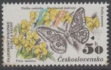 Specimen, Czechoslovakia Sc2456 Protected Species, Butterfly, Violets, Insect
